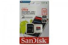 Thẻ nhớ 32GB Sandisk Ultra MicroSDHC (Class 10) 98Mb/s A1