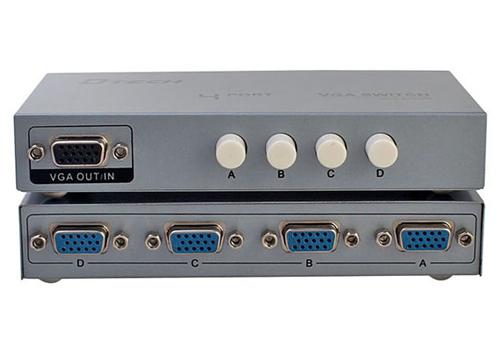 Bộ Chia VGA 4 Vào 1 Ra 2 Chiều Dtech DT-7034