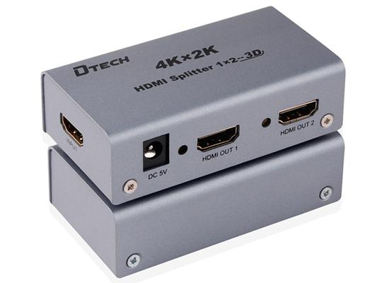 Bộ chia HDMI 1x2 4Kx2K Dtech DT-7142