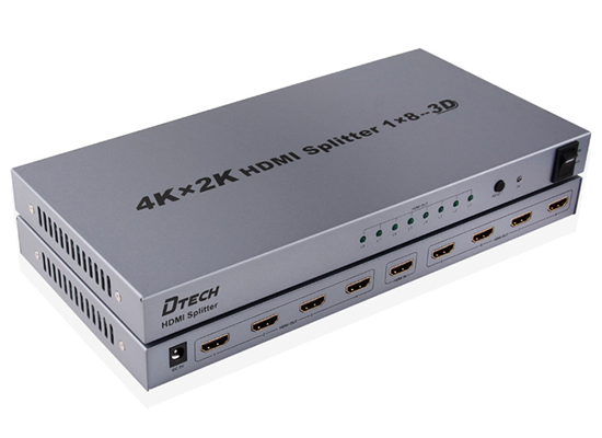 Bộ chia HDMI 1x8 4Kx2K Dtech DT-7148