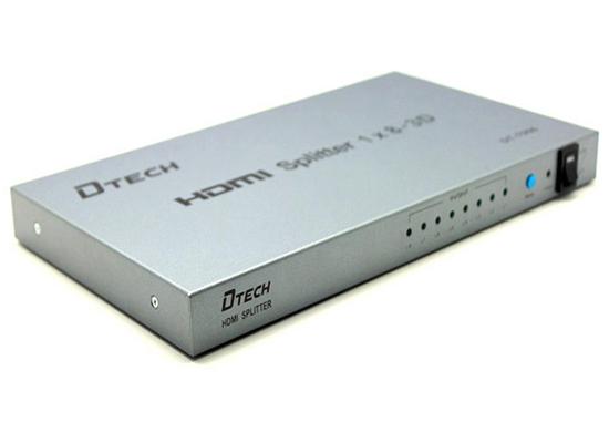 Bộ chia HDMI 1 ra 8 Dtech DT-7008