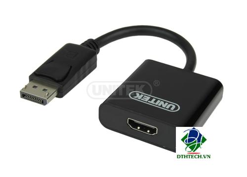 Cáp chuyển đổi DisplayPort to HDMI Unitek (Y-C5118DA)