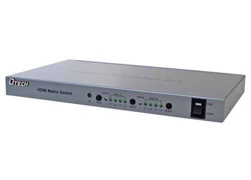 Bộ chia HDMI 4 vào 2 ra Dtech DT-7029