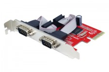 Card PCI-E 2 Port Serial Unitek Y-7504