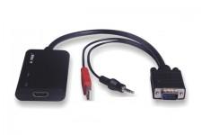 Cáp VGA To HDMI + USB + Audio Z-Tek ZE-577C