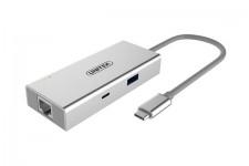 Cáp chuyển Type-C To HDMI + USB 3.0 + LAN Unitek Y-9117
