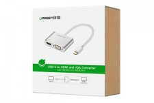 Cáp USB Type-C To HDMI & VGA Ugreen 50317