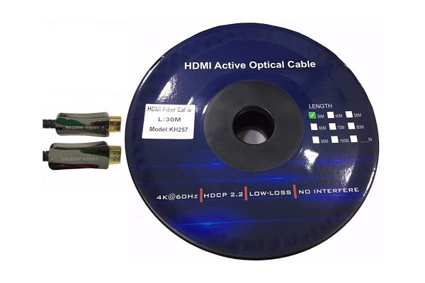 cap hdmi kingmaster 2 0v 30m active optical kh257