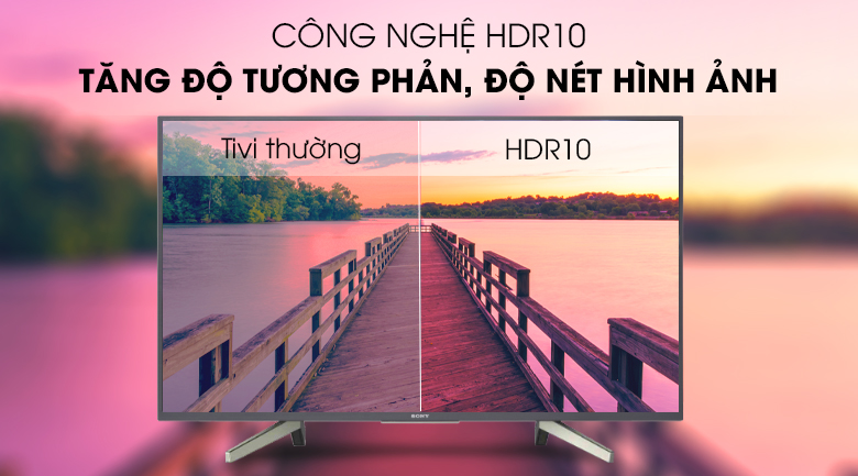Android Tivi Sony 43 inch KDL-43W800G - Công nghệ HDR10