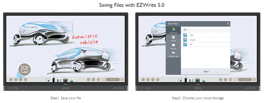 Saving Files with EZWrite 5.0