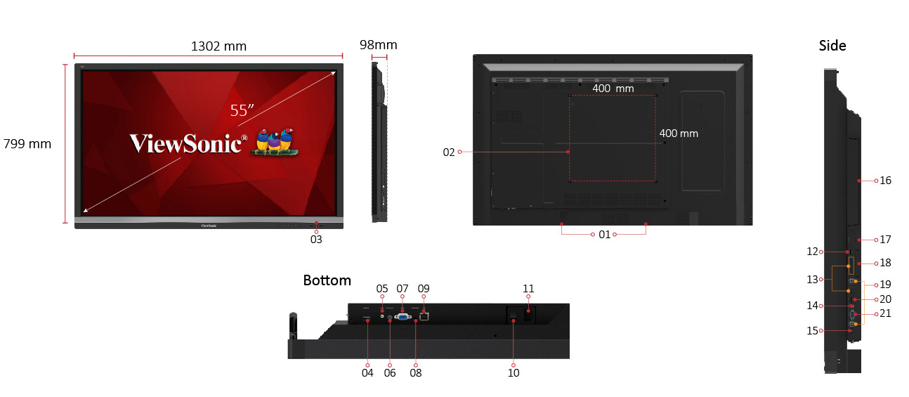 Màn hình tương tác Viewsonic IFP7550