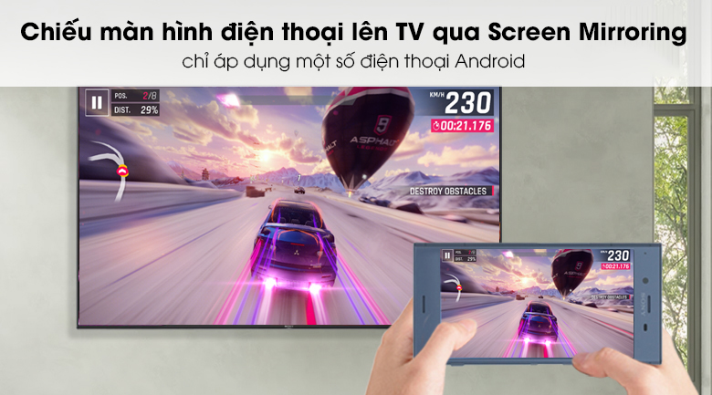 Android Tivi Sony 4K 55 inch KD-55X9500G - Screen Mirroring