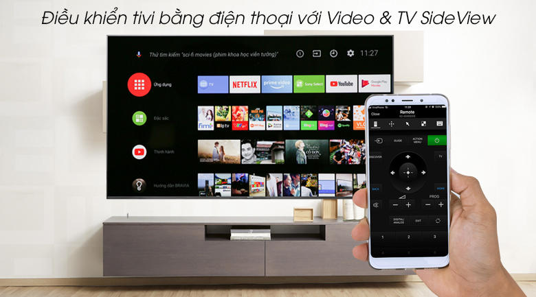Android Tivi Sony 4K 65 inch KD-65X9500G - Video & TV SideView