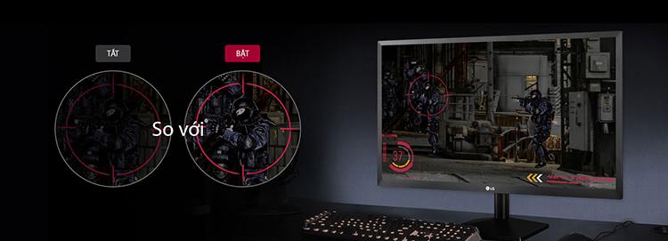 Màn hình LG với công nghệ Black Stabilizer, cân bằng tối
